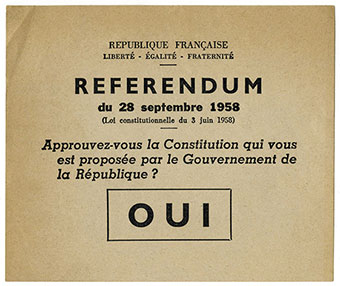 Referendum du 28 septembre 1958